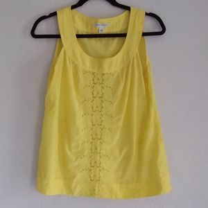 Banana republic yellow woman's blouse size medium